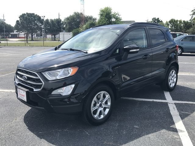 2018 Shadow Black Ford EcoSport SE 4 Door EcoBoost 1.0L I3 GTDi DOHC Turbocharged VCT Engine FWD Automatic SUV