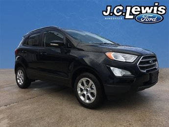 2018 Shadow Black Ford EcoSport SE 4 Door EcoBoost 1.0L I3 GTDi DOHC Turbocharged VCT Engine SUV FWD Automatic