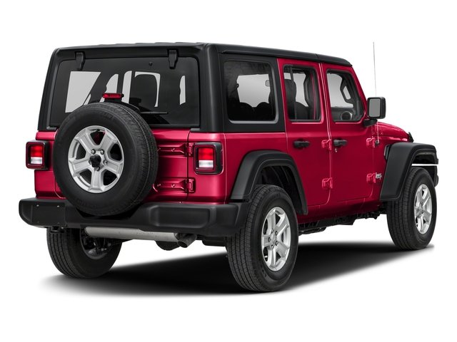 2018 Firecracker Red Clearcoat Jeep Wrangler Unlimited Sport S Automatic Regular Unleaded V-6 3.6 L/220 Engine 4 Door