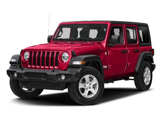 2018 Firecracker Red Clearcoat Jeep Wrangler Unlimited Sahara 4X4 Automatic Regular Unleaded V-6 3.6 L/220 Engine