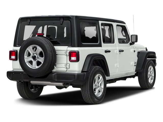 2018 Bright White Clearcoat Jeep Wrangler Unlimited Sahara 4 Door Automatic Intercooled Turbo Premium Unleaded I-4 2.0 L/122 Engine 4X4