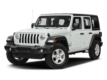 2018 Bright White Clearcoat Jeep Wrangler Unlimited Sahara 4 Door SUV 4X4