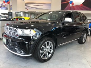 2018 DB Black Crystal Clearcoat Dodge Durango Citadel Anodized Platinum SUV Regular Unleaded V-6 3.6 L/220 Engine 4X4 Automatic