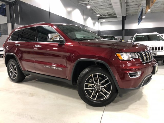 2019 Velvet Red Pearlcoat Jeep Grand Cherokee Limited 4 Door Regular Unleaded V-6 3.6 L/220 Engine Automatic 4X4