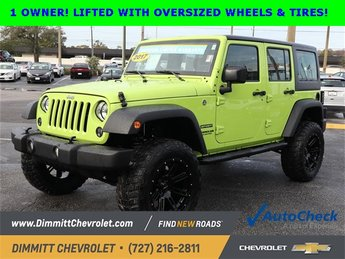 2017 Hypergreen Clearcoat Jeep Wrangler Sport 3.6L V6 24V VVT Engine 4 Door SUV Automatic 4X4