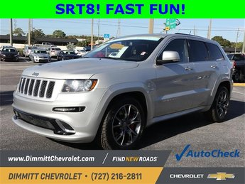 2012 Bright Silver Metallic Jeep Grand Cherokee SRT8 SRT HEMI 6.4L V8 MDS Engine 4X4 SUV