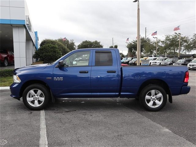 2015 Blue Streak Pearlcoat Ram 1500 Express HEMI 5.7L V8 Multi Displacement VVT Engine 4X4 4 Door Truck Automatic