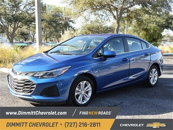 2019 Blue Metallic Chevy Cruze LT FWD Sedan Automatic 4 Door