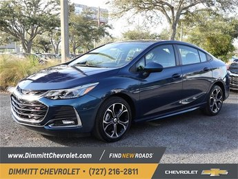 2019 Pacific Blue Metallic Chevy Cruze LT 1.4L 4-Cylinder Turbo DOHC CVVT Engine Sedan 4 Door FWD