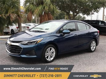 2019 Pacific Blue Metallic Chevy Cruze LT FWD Automatic Sedan 4 Door 1.4L 4-Cylinder Turbo DOHC CVVT Engine