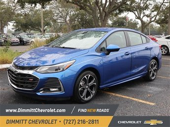 2019 Blue Metallic Chevy Cruze LT 1.4L 4-Cylinder Turbo DOHC CVVT Engine FWD Automatic 4 Door
