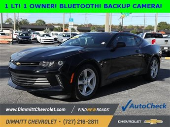 2016 Black Chevy Camaro LT RWD Automatic 2 Door 3.6L V6 DI Engine Coupe