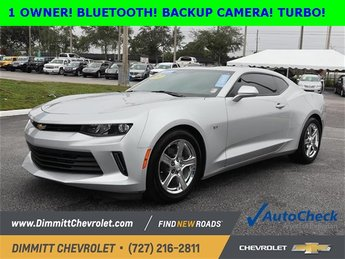 2017 Silver Ice Metallic Chevy Camaro LT RWD 2.0L Turbocharged Engine Automatic 2 Door