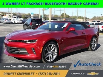 2016 Chevy Camaro LT RWD 2.0L Turbocharged Engine Convertible 2 Door