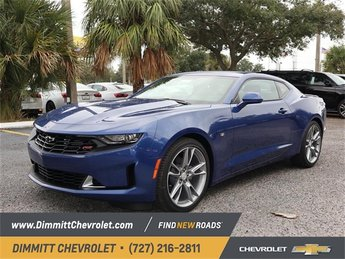 2019 Riverside Blue Metallic Chevy Camaro LT 2.0L Turbocharged Engine Coupe Automatic 2 Door RWD