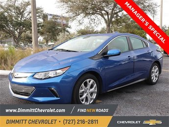 2018 Kinetic Blue Metallic Chevy Volt Premier Hatchback FWD 4 Door Automatic 1.5L VVT DI DOHC 4-Cylinder Range Extender Engine