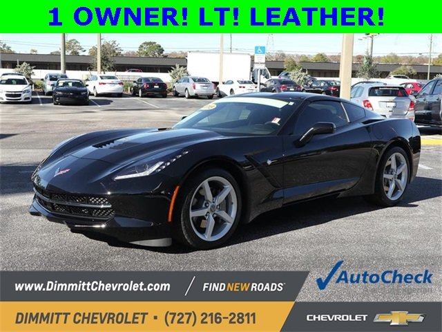 2015 Black Chevy Corvette 1LT Manual Sedan 2 Door 6.2L V8 Engine