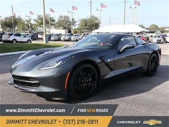 2019 Shadow Gray Metallic Chevy Corvette 1LT 6.2L V8 Engine Coupe 2 Door RWD Manual