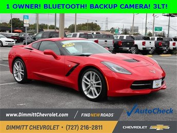 2014 Torch Red Chevy Corvette Stingray Z51 3LT Automatic 6.2L V8 Engine RWD