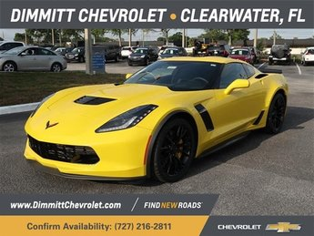 2019 Corvette Racing Yellow Tintcoat Chevrolet Corvette Z06 1LZ V8 Supercharged Engine RWD Coupe
