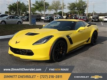 2019 Corvette Racing Yellow Tintcoat Chevy Corvette Z06 1LZ Coupe 2 Door Manual