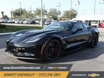 2019 Black Chevy Corvette Z06 1LZ Coupe RWD 2 Door V8 Supercharged Engine Manual