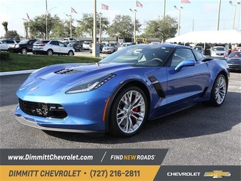 2019 Blue Metallic Chevy Corvette Z06 1LZ Coupe 2 Door V8 Supercharged Engine Manual RWD