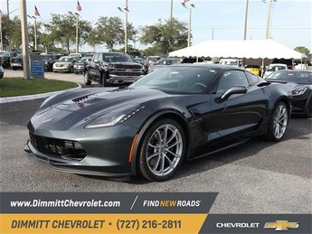 2019 Shadow Gray Metallic Chevy Corvette Grand Sport 1LT Coupe Manual 6.2L V8 Engine