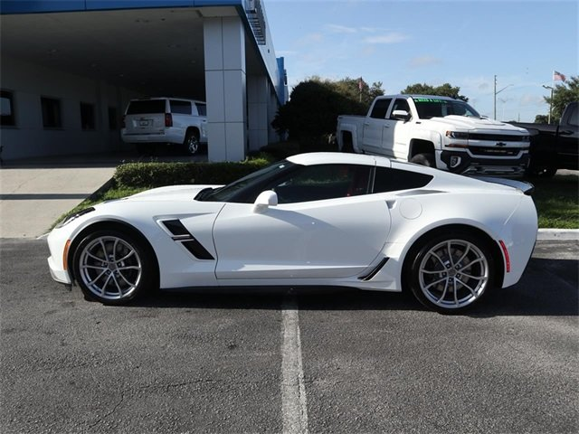 2019 Arctic White Chevy Corvette Grand Sport 1LT 2 Door RWD Coupe Automatic
