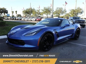 2019 Blue Metallic Chevy Corvette Grand Sport 1LT Automatic 6.2L V8 Engine 2 Door Coupe
