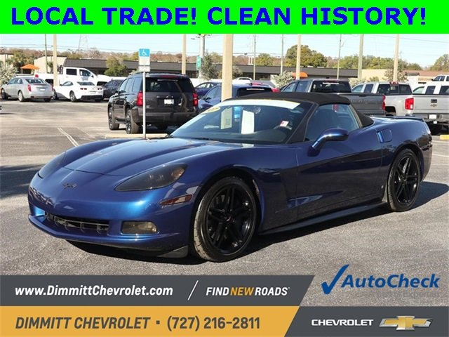 2007 LeMans Blue Metallic Chevy Corvette Base RWD Convertible 6.0L V8 SFI Engine