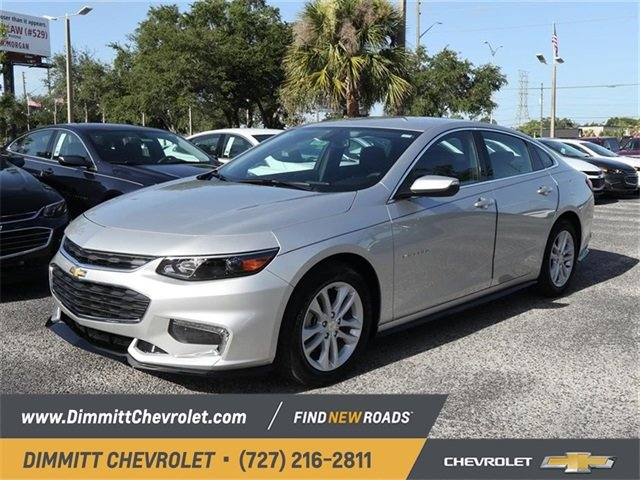2018 Silver Ice Metallic Chevy Malibu LT Automatic 1.5L DOHC Engine 4 Door FWD