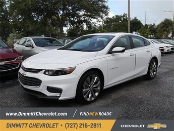 2018 Summit White Chevy Malibu Premier 4 Door Automatic FWD Sedan 2.0L 4-Cylinder DGI DOHC VVT Turbocharged Engine