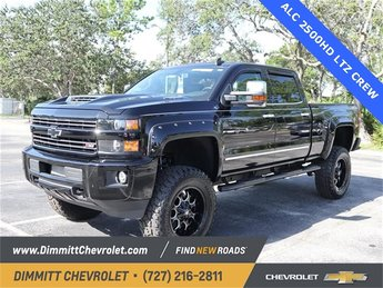 2019 Black Chevy Silverado 2500HD LTZ Truck 4 Door 6.6L 8-Cylinder Diesel Turbocharged Engine 4X4