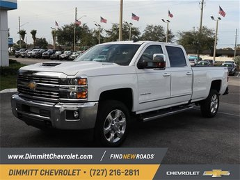 2019 Summit White Chevy Silverado 2500HD LTZ Duramax 6.6L V8 Turbodiesel Engine Automatic 4 Door