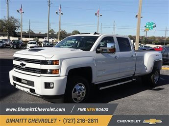 2019 Summit White Chevy Silverado 3500HD LTZ Truck 4X4 Duramax 6.6L V8 Turbodiesel Engine Automatic