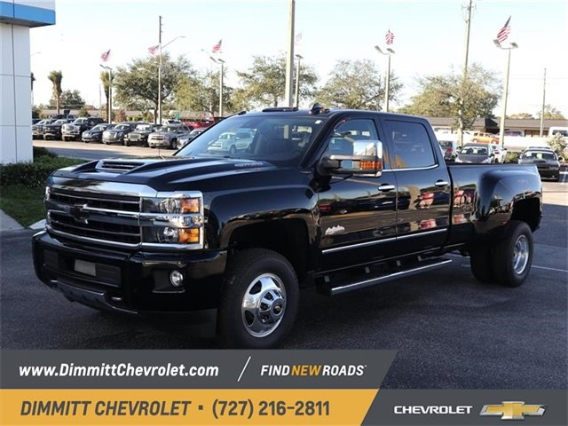 2019 Black Chevy Silverado 3500HD High Country Duramax 6.6L V8 Turbodiesel Engine 4X4 4 Door Automatic Truck