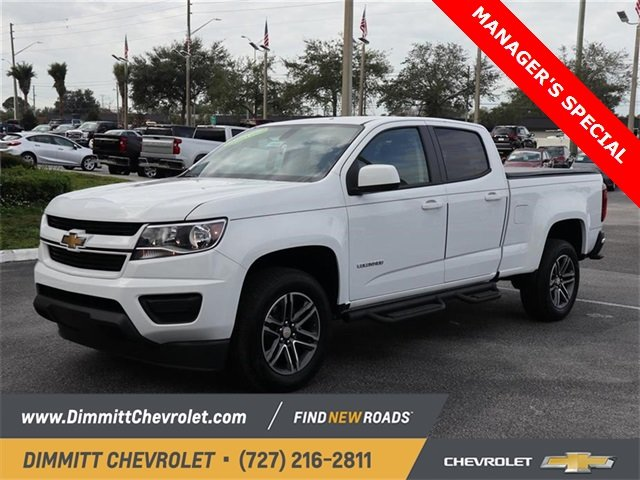 2019 Summit White Chevy Colorado 2WD Work Truck Automatic 4 Door RWD V6 Engine