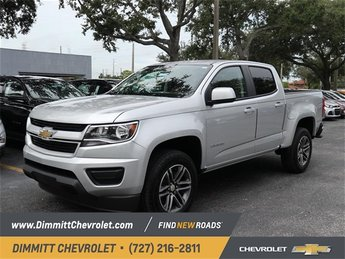 2019 Silver Ice Metallic Chevy Colorado 2WD Work Truck V6 Engine 4 Door RWD Truck Automatic