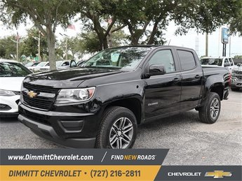 2019 Black Chevy Colorado 2WD Work Truck V6 Engine RWD Automatic 4 Door Truck