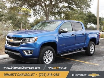 2019 Blue Metallic Chevy Colorado 2WD LT Automatic 2.5L I4 DI DOHC VVT Engine Truck 4 Door RWD