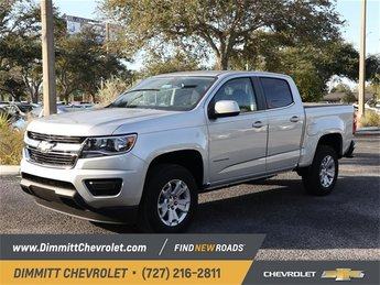 2019 Silver Ice Metallic Chevy Colorado 2WD LT Truck V6 Engine Automatic RWD 4 Door