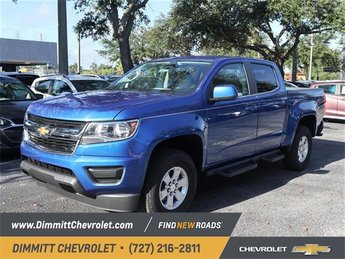 2019 Blue Metallic Chevy Colorado 4WD Work Truck 4 Door Automatic V6 Engine Truck