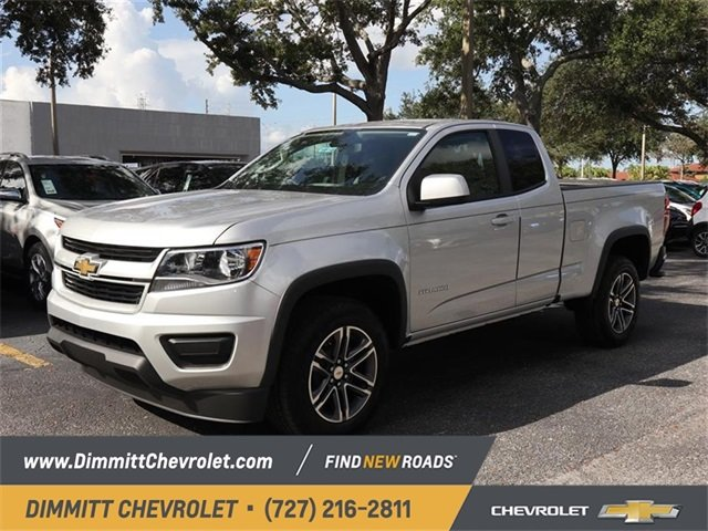 2019 Silver Ice Metallic Chevy Colorado 2WD Work Truck 2 Door 2.5L I4 DI DOHC VVT Engine RWD Truck Manual