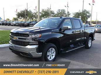 2019 Black Chevy Silverado 1500 LT EcoTec3 5.3L V8 Engine Automatic 4 Door Truck
