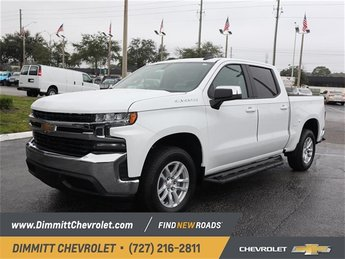 2019 Summit White Chevy Silverado 1500 LT Truck EcoTec3 5.3L V8 Engine 4 Door RWD
