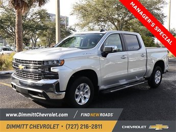 2019 Silver Ice Metallic Chevy Silverado 1500 LT RWD Truck 4 Door