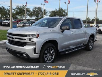 2019 Silver Ice Metallic Chevy Silverado 1500 RST EcoTec3 5.3L V8 Engine Automatic RWD