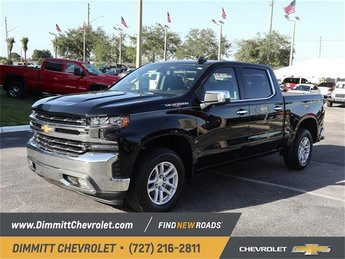 2019 Black Chevy Silverado 1500 LTZ 4 Door RWD Automatic