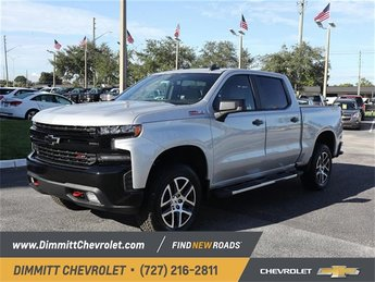 2019 Silver Ice Metallic Chevy Silverado 1500 LT Trail Boss Automatic 4X4 Truck
